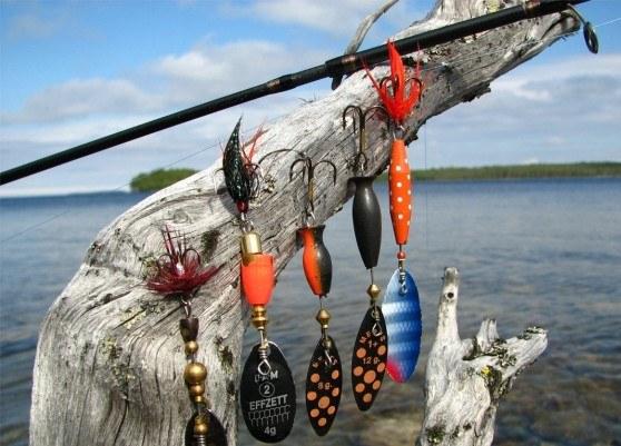 рыбалка на вращающиеся блесны видео