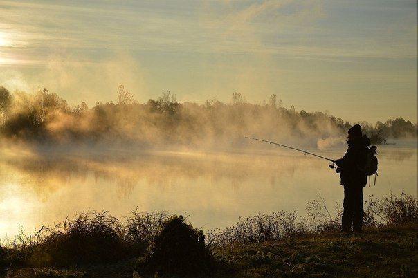 Фото: осенний спиннинг на речке