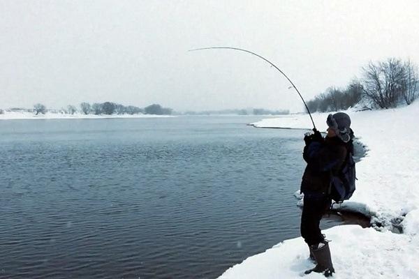 Фото: зимний спиннинг на теплой Москве-реке