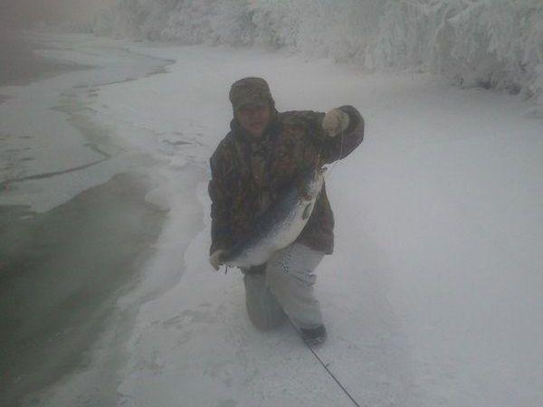 Фото: Зимний спиннинг на севере в оттепель